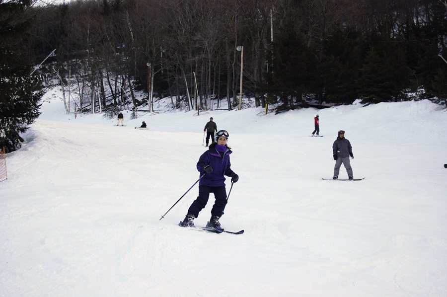 Skiing at Camelbck